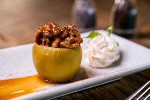 cinnamon mousse stuffed apple